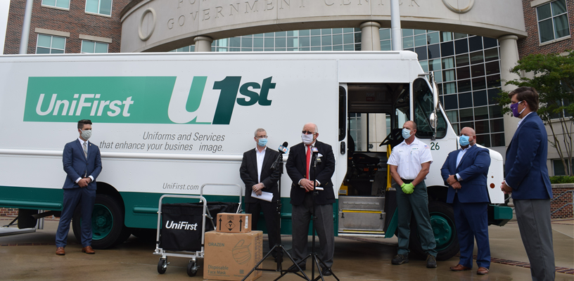 UniFirst donates 10,000 masks to Forsyth County for small businesses